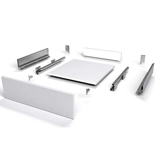 Schubkastensystem SO-SLIM weiß Höhe: 167 mm Tiefe: 500 mm belastbar bis 40 Kg Soft-Close Schubladensystem mit 13 mm schlanken Schubladenzargen