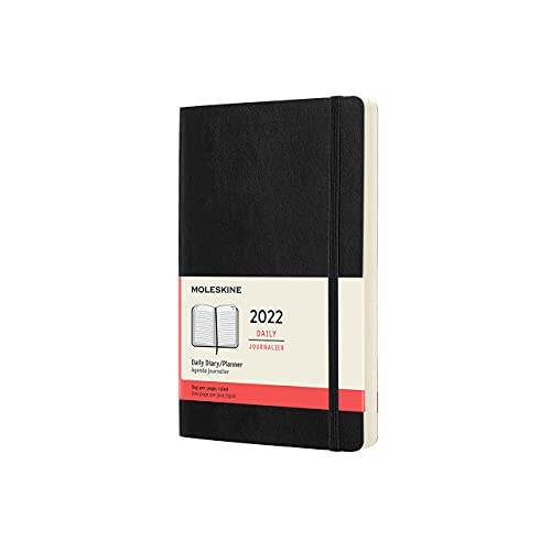 Moleskine Classic 12 Month 2022 Daily Planner, Soft Cover, Large (5 x 8.25), Black