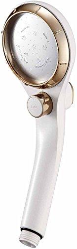 SANEI アジャストシャワーヘッド 手元ボタンで勢い調節と一時止水 節水効果 ゴールド PS3032-80XA-GP