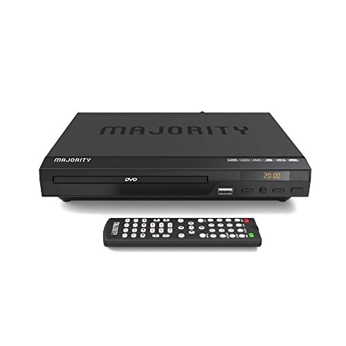 Majority Scholars Compact DVD Player, Multi-Region Region Free, USB Port, DivX, RCA & HDMI Port, Built-in PAL/NTSC System, HDMI Cable Included
