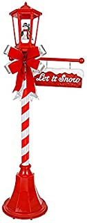 VH&G 56 Inch Tall - Snowfall Lamp Post with LED Lights, Music and Blowing Snow - Let it Snow!