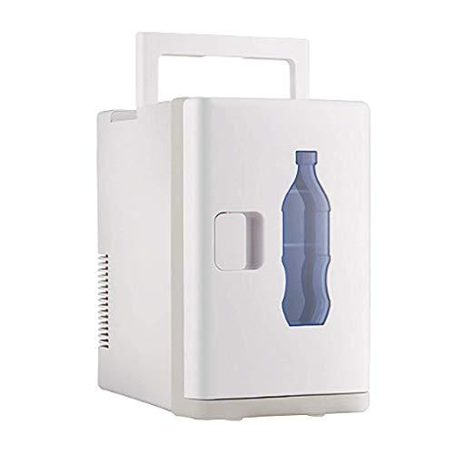 Mini refrigerador, refrigerador enfriamiento y calentamiento automóvil, refrigerador portátil 10 L y 12 V, refrigerador y calentador alimentos congelados, mini refrigerador para calefacción o aliment