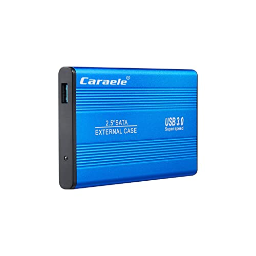 SRGRTRG 2TB Disco Duro Externo Ultrafino,2.5 In Portátil HDD Almacenamiento USB 3.0 Velocidad De Transferencia Súper Rápida para PC Portátil MAC-500GB-azul