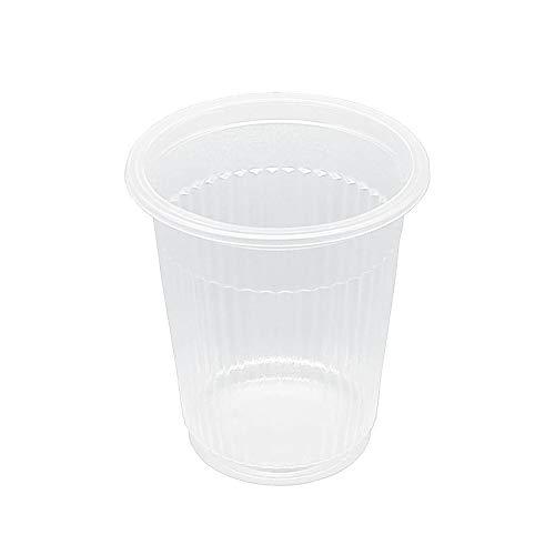 TELEVASO - 4000 uds - Vaso de plástico color transparente, de polipropileno (PP) - Capacidad de 100 ml - Desechables y reciclables - Ideal para bebidas frías como agua, refresco, zumos, té helado