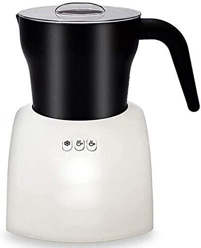 Espumador Leche Milk Frother Calentador De Leche Batidora Leche Espuma Calienta Leche Electrico Espumador de leche automático y vaporizador, interior antiadherente desmontable para café Cappuccino L