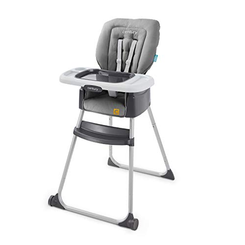 Century Dine On 4-in-1 High Chair – Grows with Child with 4 Modes, Metro