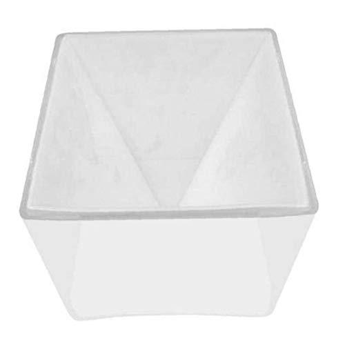Molde del silicón de la Resina de epoxy del Arte DIY del Molde Pirámide decoración del Ornamento joyería Molde 15cm Grandes estupendos Transparente
