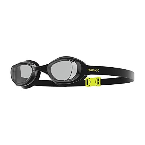 Hurley Solari Adult Training Googles, Swim Goggles Anti-Fog UV Protection Mirrored Adult Swim Goggles, Swimming Glasses