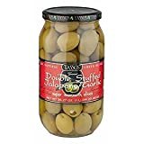 Tassos Double Stuffed Jalapeno and Garlic Olives, 1 Liter (pack of 6)