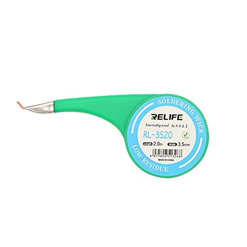 Relife Low Residue Desoldering Wick Braid No-Clean Solder Flux Remover Wick Cord For Phone BGA Cleaning Repair Tool - 3.5mm Width 2.0M Length