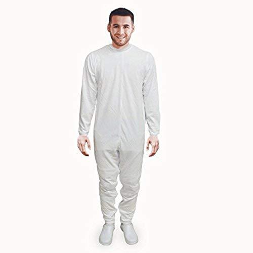 Pijama antipañal de sarga (verano), manga y pierna larga. talla L ⭐