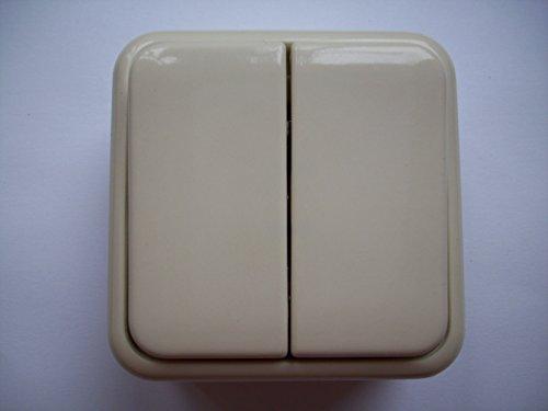 Gira 010525, Wippschalter, Serienschalter, AP, cremeweiß gl.
