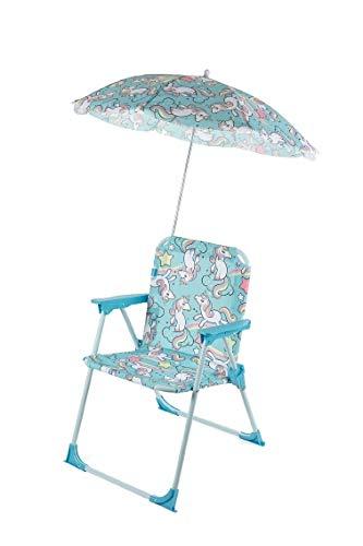 Galileo Casa Bimbo Oxford eenhoorn, staal + textileen, lichtblauw, stoelen L 37 x 25 x h. 52 cm 13 mm Afmetingen paraplu: Ø 65 cm (buis: 7,5 mm)