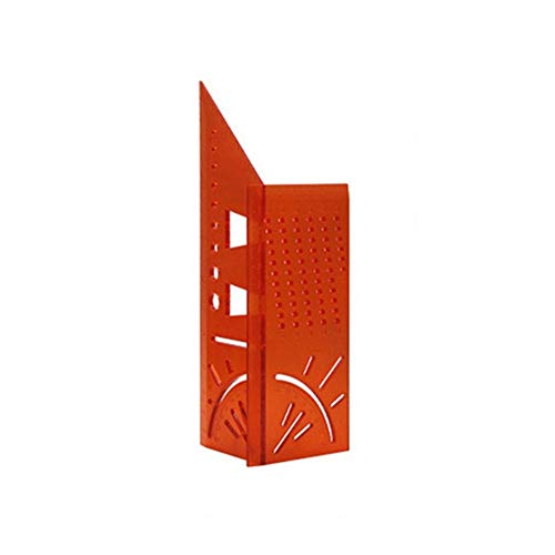 FEIFUSHIDIAN Accurate ABS 3D Mitre Angle Measuring Ruler Square Size Woodworking Measure Tool Line 0-90 Degree Gauge Hole Scribing Gauge Workmanship (Color : Red)