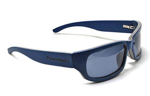 BUSHWACKA Nuevo Sierra Azul Polarizado Gafas de sol laminados de madera hechos a mano Gafas de sol de diseño curvas Gafas de sol de madera