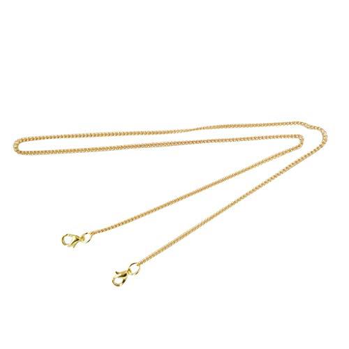 duquanxinquan5 Stück Metall Kette Mundschutz_ Clips Metall Serviette Klammer Gold Hals Schlüsselband für Ältere Erwachsene Kinder (B)