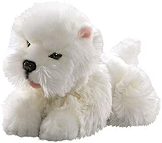 Carl Dick Westie, West Highland Terrier Puppy Lying 10 inches, 25cm, Plush Toy, Soft Toy, Stuffed Animal 2511
