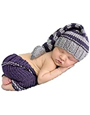 Recién nacido bebé niña niño ganchillo Costume Foto Fotografía Prop sombreros trajes