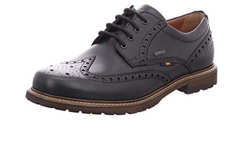 FRETZ MEN'S SHOES MEN'S STYLE Hombre Zapatos de Cordones Lenz, de Caballero Calzado de Negocios,Zapatos de la Oficina,51 Noir,46 EU / 11 UK