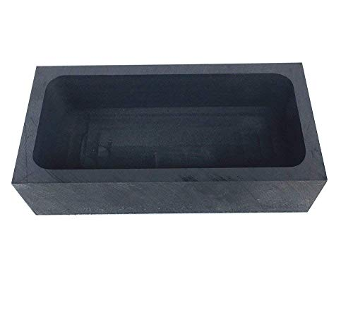 OTOOLWORLD Gold Silver Graphite Ingot Mold Mould Crucible for Melting Casting Refining (1kg)