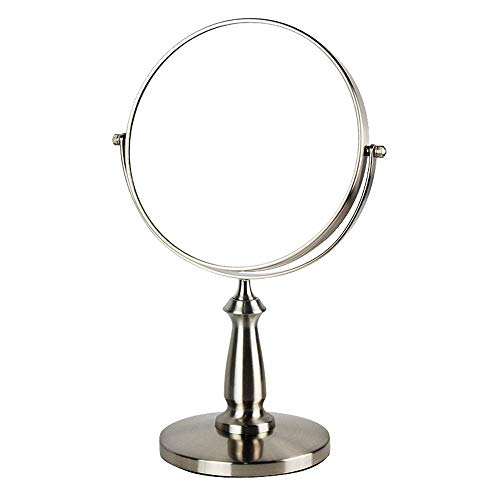 DCLINA Espejo Maquillaje Espejo Maquillaje LED - Espejo tocador Iluminado 7.5 Pulgadas con Aumento 1x/3x, Espejo Doble Cara con Soporte, rotación 360 Grados