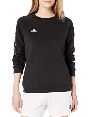 adidas Women's Core18 Sweater, Black/White, Small
