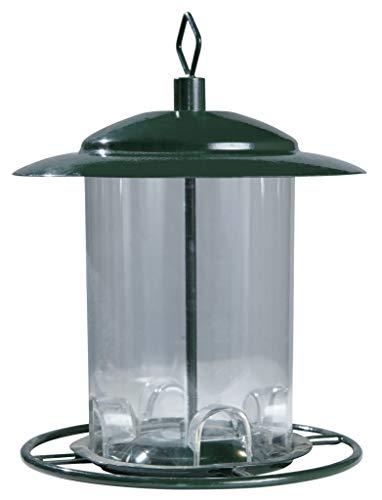 Windhager Vogelfuttersilo COMPACT, Futterstation Vogelhaus Vogelfuttersäule Futterspender, aus Kunststoff/Metall, abnehmbares Dach, 06931