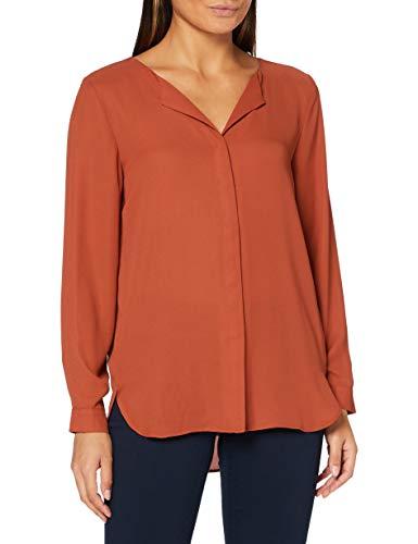 Vila NOS Damen VILUCY L/S Tunic-NOOS Bluse, Rot (Ketchup Ketchup), (Herstellergröße: 34)
