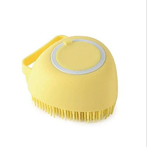 LEEYAN Cepillo de baño para mascotas Herramienta de aseo multifuncional de gran capacidad dispensador de ducha perro masaje peine
