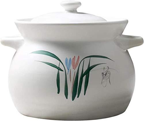 CMBJX Ollas de Hierro Utensilios de Cocina Terracotta Clay Casserole Pot Clay Pot Cocinar-Fast Secking, Almacenamiento Conveniente Anti-Scald y Resistente al Calor-2.75L (Size : 2.75L)