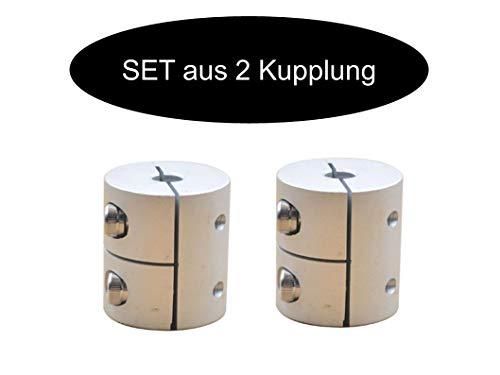 2 x Klemmkupplung Kupplung Wellenkupplung aus ALuminium je nach wahl (5mm x 6.35mm)