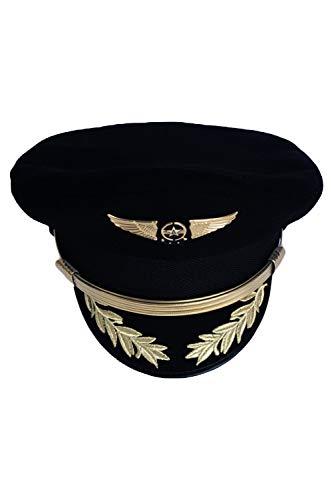 Joyplay Gorra piloto de Aviador Fiesta de Carnaval Capitan Sombrero Uniforme Lana, 57
