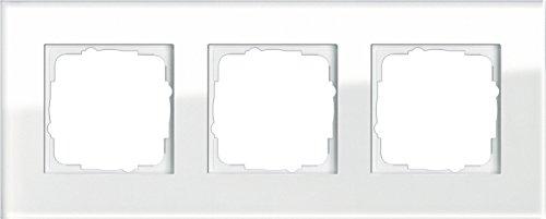 Gira 021312 Rahmen 3-fach Esprit Glas, weiß
