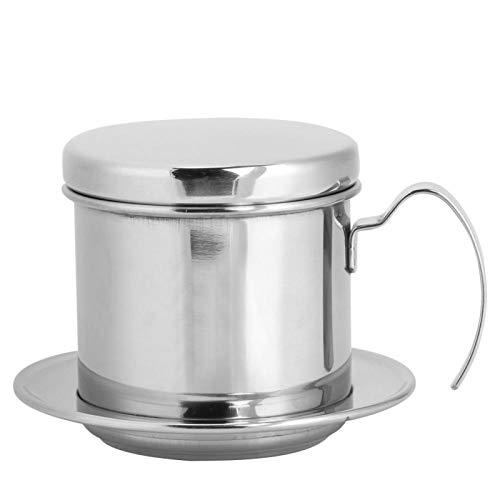 SALUTUYA Filtro de Goteo de café Resistente a la corrosión Cafetera Conveniente Filtro de café de fácil Limpieza Acero Inoxidable para la Cocina casera Colorido(Silver)