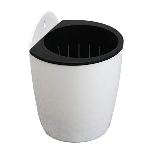 DFHJSXDFRGHXFGH-ES Diseño Moderno Hogar Colgante de Pared Diseño Maceta Forma Redonda Resina Hidropónico Macetas de clorofito Macetas en Maceta Blanco DFHJS