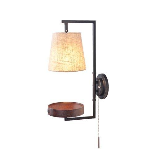 Lámpara pared creativa moderna con pantalla tela, apliques luz pared, diseño cosas con puerto carga USB, lámpara noche para dormitorio con interruptor línea para el pasillo la sala estar del estudio