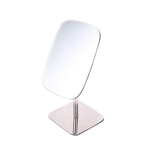 SMEJS Miroir de Maquillage - Miroir de Maquillage Ajustable, comptoir rectangulaire avec comptoir de grossissement, Fini Chrome Poli