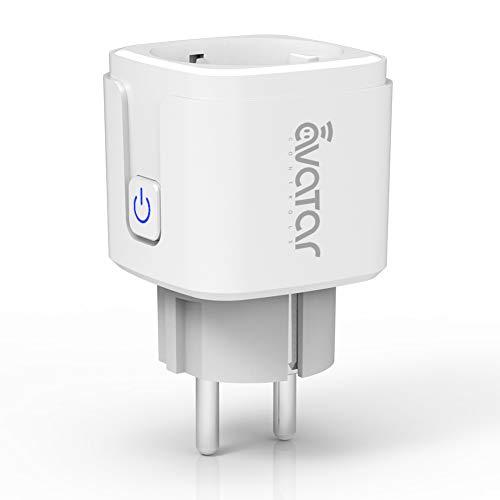 Wlan Smarte Steckdose, Alexa Smart Plug Avatar Controls Smart Home Steckdosen funktionieren mit Google Home(1 pack)