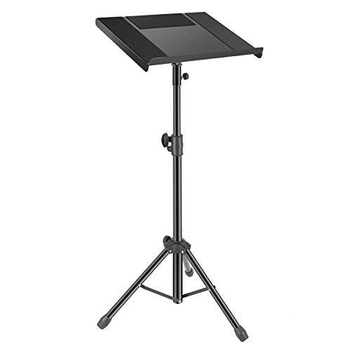 Neewer 83-136cm Treppiede Regolabile con Ripiano Portaoggetti per Laptop Proiettore, Supporto Stand Portatile con Vassoio per DJ Laptop Proiettore Tablet Uso su Palcoscenico in Studio