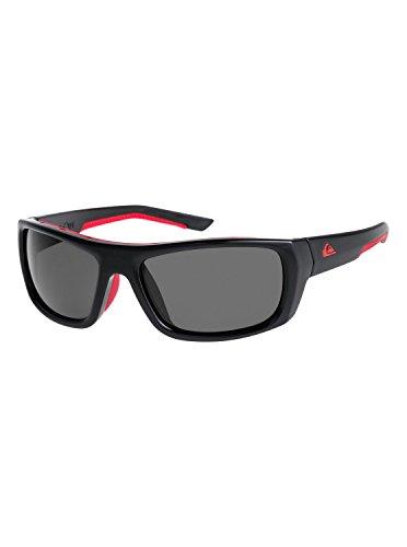 Quiksilver Herren Knockout-Sonnenbrille für Männer, Black/Red/Grey-Combo, 1SZ