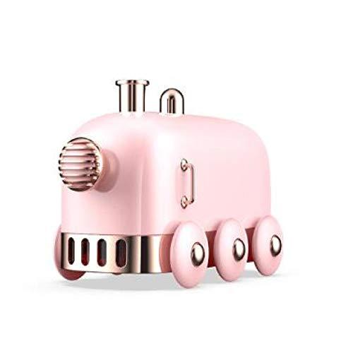MHBY Humidificador, 300ml Humidificador ultrasónico Retro Mini Tren USB Aromaterapia Difusor de Aire Rociador de Aceite Esencial Atomizador con luz LED de Colores Humidificador