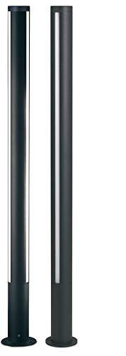 Poteau à LED 18 W Lumière froide 6000 K pour extérieur haute efficacité lumineuse