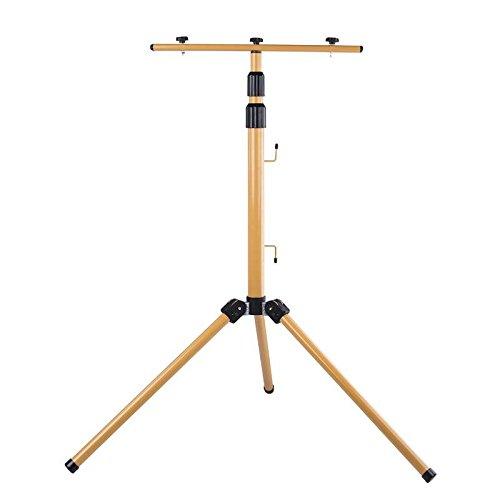 EMOS driepoot voor 2 reflectoren, staal, geel, 14 x 12 x 63 cm