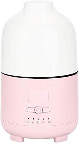 DBSCD USB-Luftbefeuchter, Aromatherapie-Einheit Eimer Auto-Luftbefeuchter USB-Diffusor für ätherische Öle mit Aromatherapie-LED, Hellrosa, 500 ml