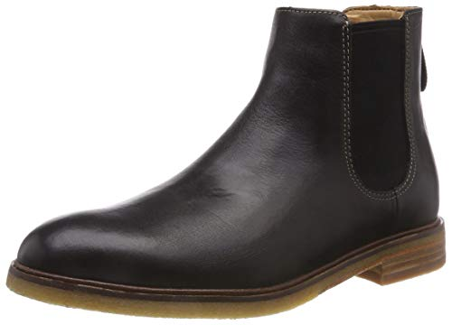 Clarks Herren Clarkdale Gobi Chelsea Boots, Schwarz (Black Leather), 44 EU