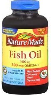 Nature Made Fish Oil 1000mg 300mg Omega 3 250 Liguid Softgels