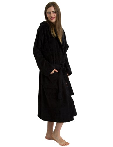 TowelSelections Hooded Terry Velour Bathrobe for Women and Men Made in Turkey