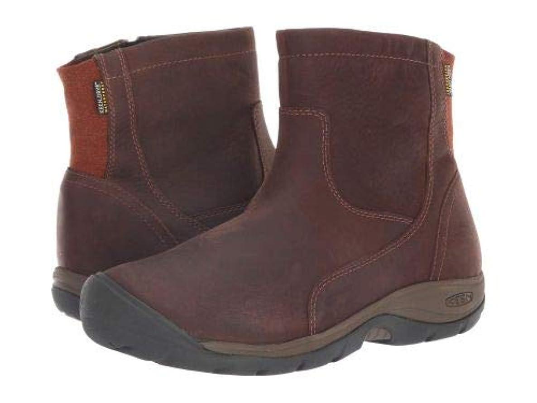 リーあさりKeen(キーン) レディース 女性用 シューズ 靴 ブーツ レインブーツ Presidio II Waterproof Mid Zip Boot - Tortoise Shell/Cornstalk [並行輸入品]