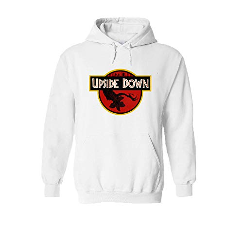 Sudadera con Capucha Stranger Things Upside Down, Color Blan