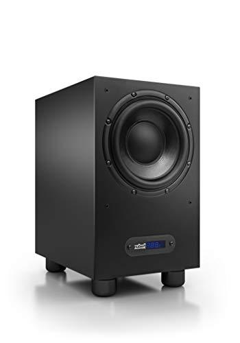 Nubert nuBox AW-443 Subwoofer | Lautsprecher für Bass & Effekte | Surround & Action auf hohem Niveau | Aktivsubwoofer-Technik | LFE-Box mit 220 Watt | Grenzfrequenz 29 Hz | Kompaktsubwoofer Schwarz